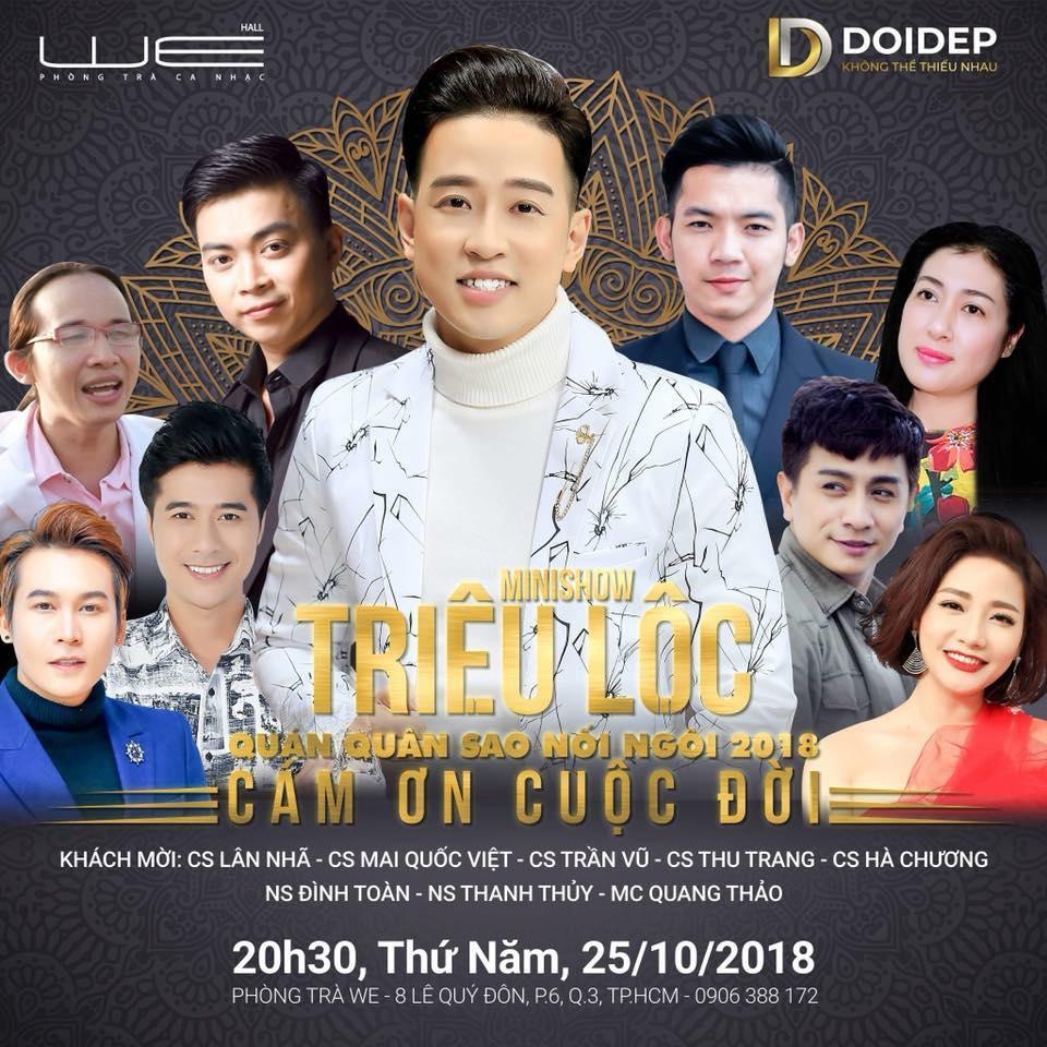 """Image result for Quán quân """"Sao Nối Ngôi"""" Triệu Lộc tổ chức minishow đánh dấu chặng đường 10 năm ca hát"""
